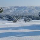 Le trou n°1 sous la neige en février 2012