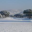 Le trou n°8 sous la neige en février 2012