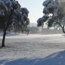 Le parcours enneigé en février 2012